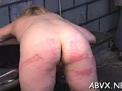 Big charming woman babe severe stimulation in complete bondage scenes